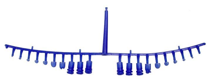 Figure 2 – Ladder or fishbone style runner system